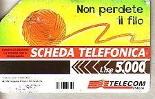 Telefonkarte Italien starke Gebrauchsspuren (intern: 2279 )
