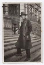 PHOTO ANCIENNE Pochette en cuir Appareil Photographié Caméra Étui Homme1930
