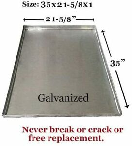 """Dog Crate Tray Pet Crate Pan Galvanized Chew Proof Dog Crate Pan-35""""x21-5/8""""x1"""""""