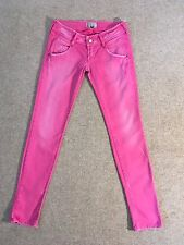 MET pink cotton & elastane distressed skinny stretch jeans Size 27/UK 9 New £180
