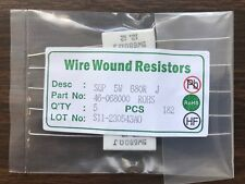 MCM Square Cement Wire Wound Resistor, 5 Watt, 680 Ohm, 5 Pack, MPN: 46068000