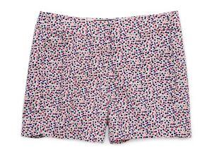 "J.Crew Factory - Womens 12 - NWT - 5"" Pink/Navy Micro-Floral Chino Shorts"