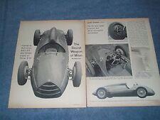 1962 Alfa Romeo 512 F-1 Vintage Race Car Info Article The Secret Weapon of Milan