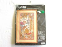 "NIP Vintage 1997 Bucilla ""Honey Bee Happening"" Counted Cross Stitch Kit  #41646"