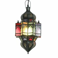ORIENTLAMPE orientalische Hängelampe Lampe Glas Orient Deckenlampe MAROKKO Ceri