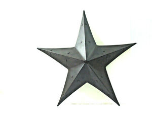 """22"""" Brown Metal Wall Mount Star Rustic Country Barn Western Dimensional Decor"""