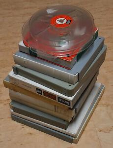 10 Tonbänder und 2 Leerspulen - BASF Agfa Telefunken 3M