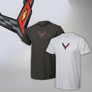 2020 Corvette C8 Mens Carbon Badge T-Shirt 688203
