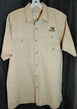 RedHead Hunting Fishing Button Front Shirt Sz L Embroidered Bass Chest Pockets