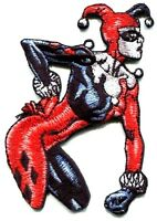 HARLEY QUINN sneer EMBROIDERED PATCH Iron On FREE SHIP dc comics batman pdc127