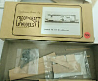 N scale Gloor Crafts  Santa Fe 50' reefer  wooden Kit with Instructions vintage