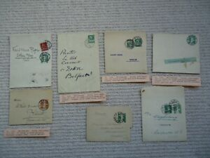 7X 1909-24 SWITZERLAND Newspaper Wrappers Postal Stationery Postal History Used