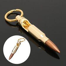 1pc Bullet Shell Shape Bottle Opener Beer Soda Gold Keychain Key Ring Bar Tool