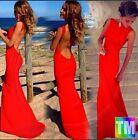 Sheer Elegant Mermaid Women Backless Sleeveless Ballroom Evening Long Maxi Dress