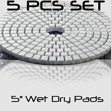"Concrete Polishing Pads 5"" Wet Dry Concrete Sanding Discs Set Concrete Polishing"