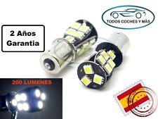 2 X BOMBILLA LED COCHE BA15S CANBUS 18SMD 5050 1156 P21W MARCHA ATRAS BLANCO