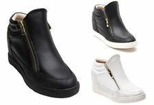 Unbranded Synthetic Leather Wedge Trainers for Women