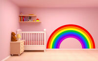 RAINBOW WALL STICKER plain children's bedroom nursery decal car art vinyl 4 size