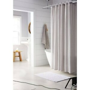 "THRESHOLD Cotton Dyed Striped Shower Curtain | Cashmere Gray | 72""x72"" 