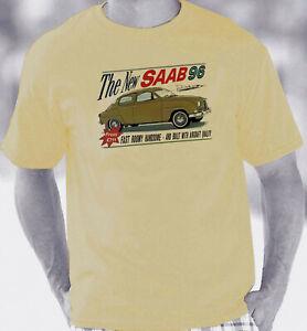 Saab 96 1960-1980 Retro Brochure Style T-Shirt