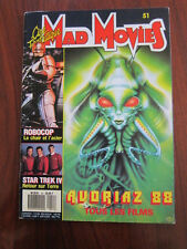 Mad Movies #51 Robocop Star Trek Daria Nicolodi Paul Verhoeven Joel Schumacher