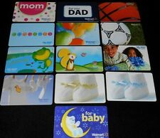 13 Collectible Gift Card WALMART Kids Baby Department Store Lot No Value <2010