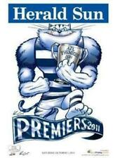 2011 AFL GEELONG GRAND FINAL PREMIERSHIP POSTER MARK KNIGHT HERALD SUN