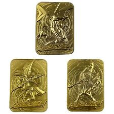 More details for yu-gi-oh! - limited edition gold god cards - all 3 gold cards!