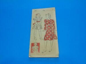 VTG 1930s/40s New York Sewing Pattern 942 Girls Yoke Dress Size 6