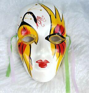 Porcelain Mask Masquerade Wall Decor Mardi Gras Ceramic Face