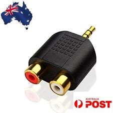 3.5mm Splitter Audio Plug Converter Male to 2 RCA Female Adapter