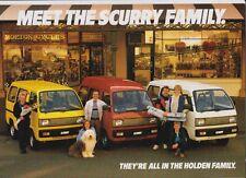 1985 HOLDEN SCURRY VAN Range Australian Brochure Like SUZUKI CARRY VAN