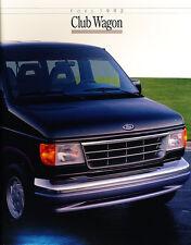 1992 Ford Club Wagon Van Original Sales Brochure