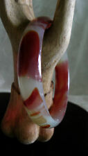 Hand Carved Jade/Agate Bangle/inside diameter 59mm Inventory #162