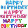 """16"""" """"HAPPY BIRTHDAY"""" 13Pcs Letters Foil Balloons For Birthday Party Decoration"""