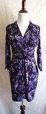 Laundry by Shelli Segal 2 Purple Ruched Twisted Wrap Bust Sheath Stretch Dress