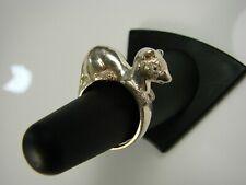 Sterling Silver Stoat Marten Mink Weasel Animal  Ring  by SIGI Design USA 003