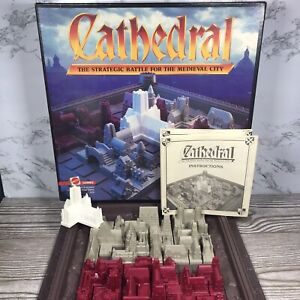 Vintage 1986 Cathedral Board Game Strategic Battle for Medieval City Complete