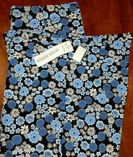 Cropped Pants Blue Floral Allyson Whitmore  Misses size 14 New