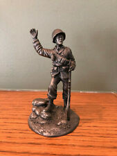 The Franklin Mint 1976 Fine Pewter Figurine The Gi 1936-1955 4 1/4� Tall ~ Army