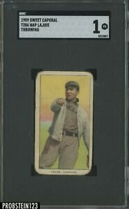 T206 Nap Lajoie Throwing Cleveland HOF Sweet Caporal 150 Subjects SGC 1