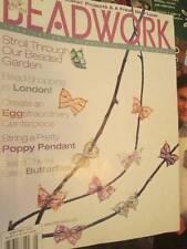 Beadwork April/May 2004 Magazine-Tassel Lariat/Butterflies/Poppy Pendant/Luau