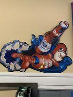 Vintage metal Budweiser beer sign, 1990 Bud Man beer sign bar decoration Mancave