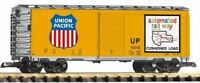PIKO G SCALE UP STEEL BOXCAR 120152, ARMOUR YELLOW | BN | 38831