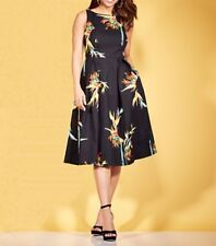 NWT EVA MENDES COLLECTION BLACK MULTI BLOOMS FELICITY SLEEVELESS DRESS SIZE 6