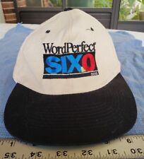 Vintage WordPerfect 6.0 DOS Ball Cap Gimme Cap Hat Snapback 1990's