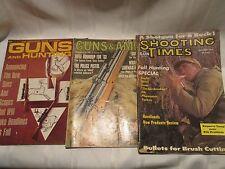 LOT OF 3 VINTAGE Men's GUNS & AMMO HUNTING SHOOTING TIMES Magazines - Men - 1963
