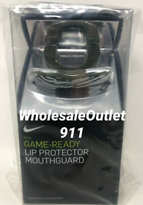 New Nike Game Ready Lip Protector Mouth Guard with Strap Adult Sports Athletic