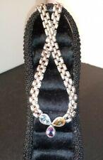 "Amethyst Citrine Blue Topaz Sterling Silver Necklace 16"""