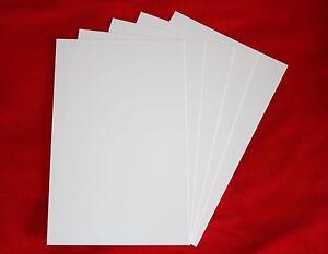 5  Polystyrol Platten weiß 320x200x1mm Modellbau weiss